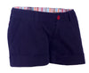 Womens Shorts in 97% Cotton 3 % Elastine ( Strech twill) With waistband trimming