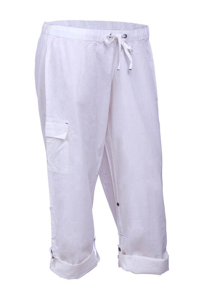 Womens 100 Cotton Twill Elastic Waist Pants Gtwclothing
