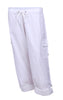 Womens 100% Cotton Twill elastic waist pants
