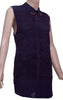 Poly Cotton Womens Sleeveless dress with burn out effect.