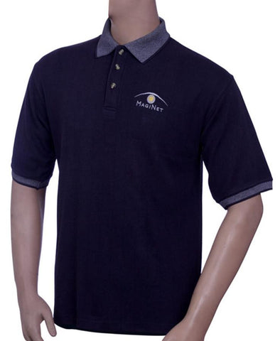 Mens 100% Cotton Polo neck T Shirt in Pique fabric