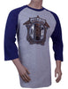 Mens 100% Cotton ¾ sleeve t shirt
