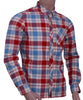 Mens 100% Cotton Yarn Dye Check  Long Sleeve Shirt
