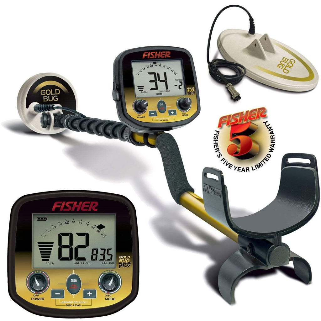 Fisher Metal Detectors Fisher Gold Bug Pro Metal Detector with Multi-Coil Pack GOLDBUG-PRO-CC