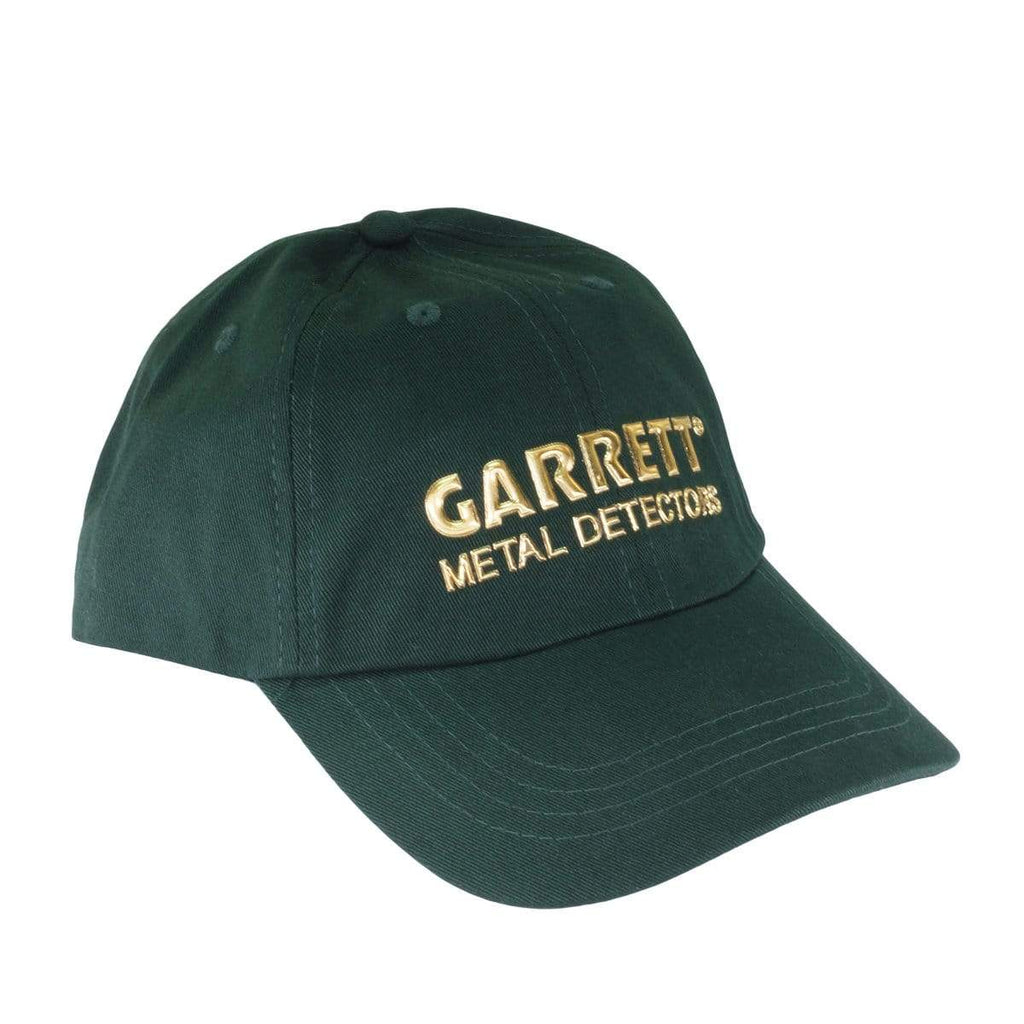 Garrett Hats Garrett Green Baseball Cap with Metallic logo with textured gold color 1663300
