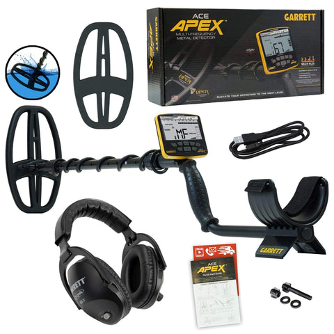 Garrett Metal Detector Garrett ACE APEX Metal Detector with Z-Lynk Wireless Headphone and Coil Cover