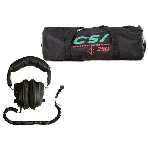"Garrett Metal Detector Garrett CSI 250 Discovery Pack Ground Search Metal Detector with 6.5 x 9"" Search Coil, Deluxe Headphones and CSI Carry Bag"