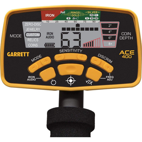 Garrett Metal Detectors Garrett ACE 400 Metal Detector with 8.5 x 11 DD Waterproof Coil & 3 Accessories 1141260