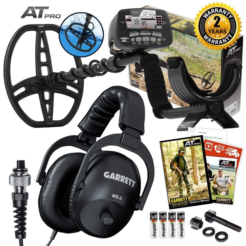 Garrett Metal Detectors Garrett AT Pro with PROformance DD Submersible Coil & MS-2 Stereo Headphones 1140460