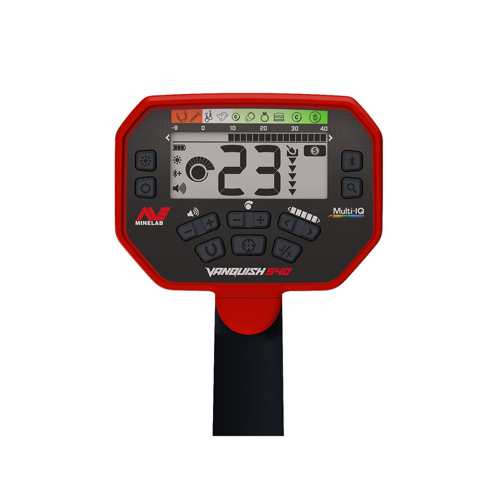 Minelab Vanquish 540 Pro Pack Metal Detector LCD Screen