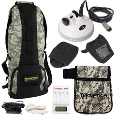 "Teknetics Carry Bags Teknetics T2 Accessory Bundle with 5"" DD Coil, Camo Pouch, Backpack, Cap & More"