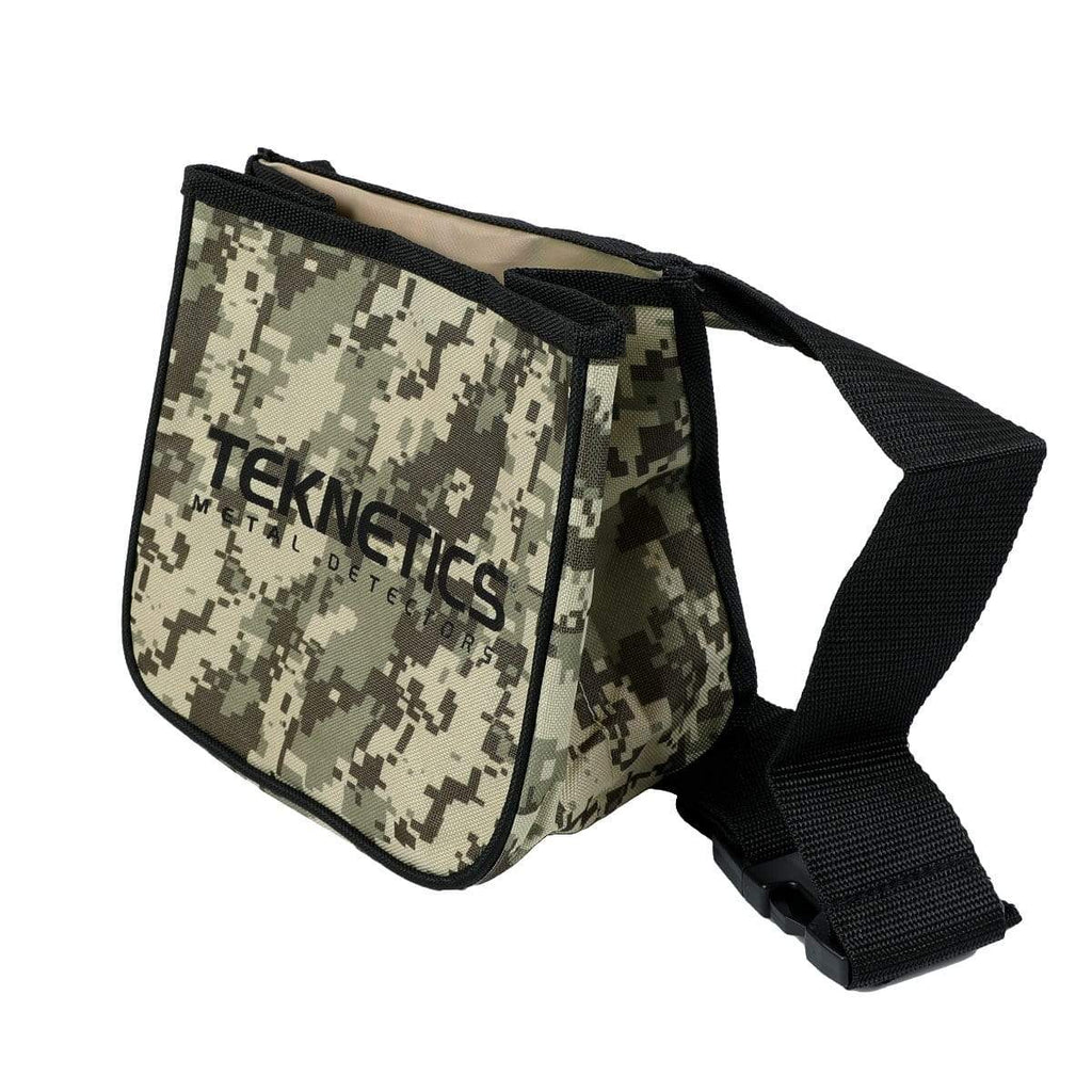 Teknetics Pouches Teknetics Metal Detector Camo Finds Pouch w/ Two Large Pockets and Belt Included PCH-T