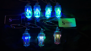 LP Electralume Lights. Green/Blue