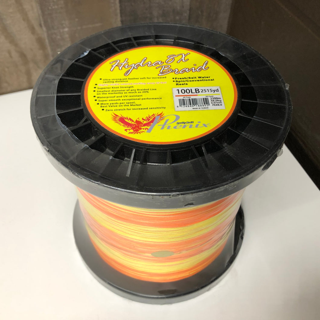 2500YD Color Changing Spectra. 100 LB Yellow/Orange