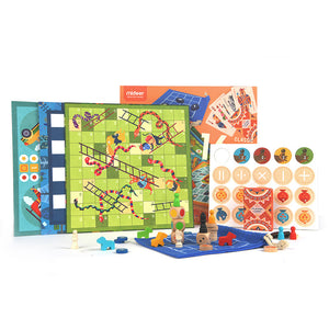 16 in 1 Checkerboard Game
