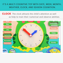 Load image into Gallery viewer, Kid's Wooden Calendar Board