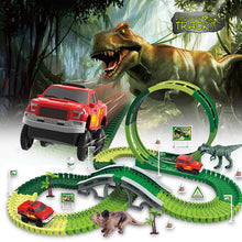 Load image into Gallery viewer, Dinosaur Race Track Toy Set