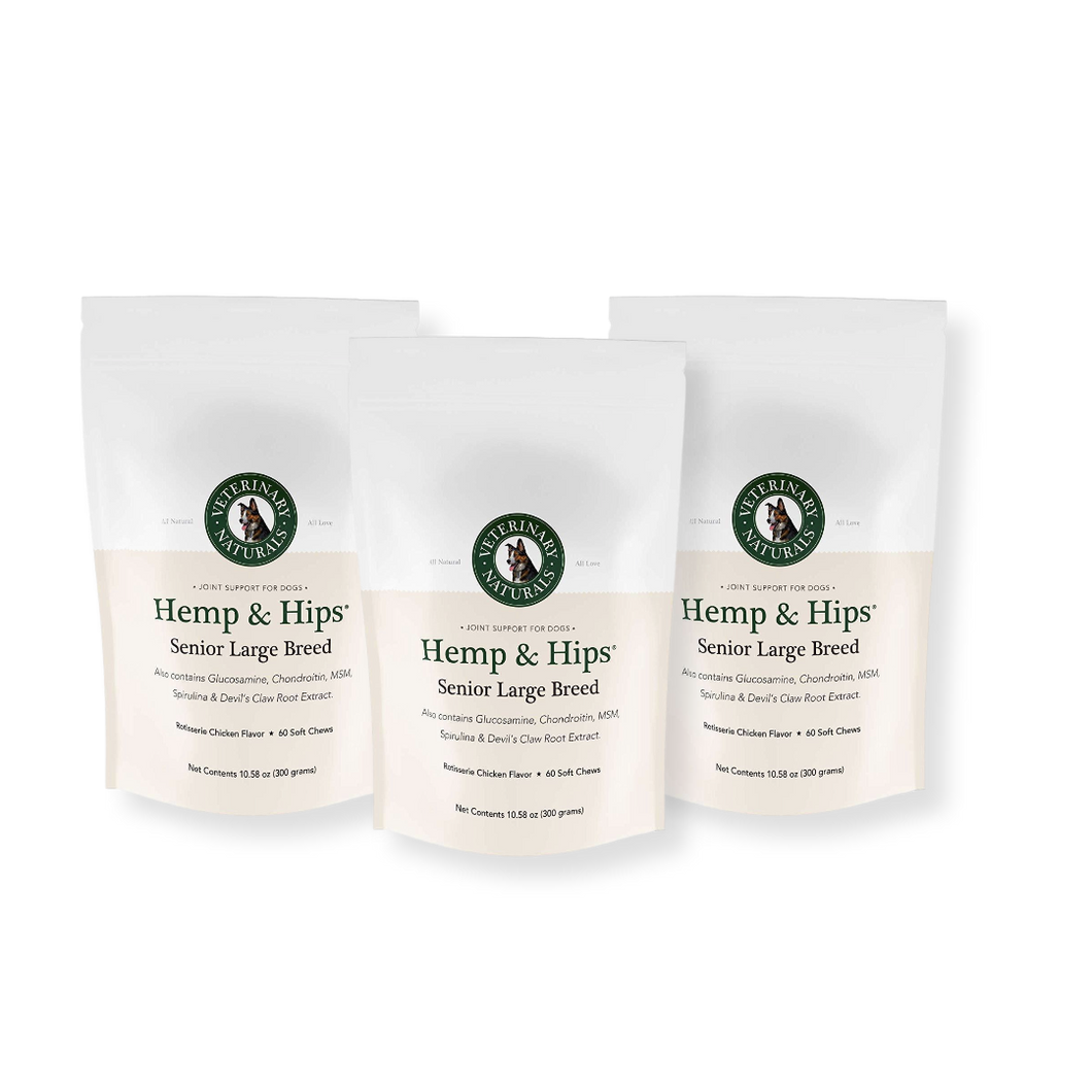 Hemp & Hips Senior Large Breed 3 Pack 20% Off