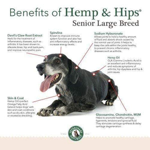 Hemp & Hips Senior Large Breed 9 Pack 30% Off
