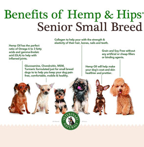Hemp & Hips – Senior Small Breed 9 Pack