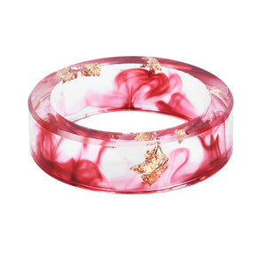Gold Foil Paper Inside Resin Ring