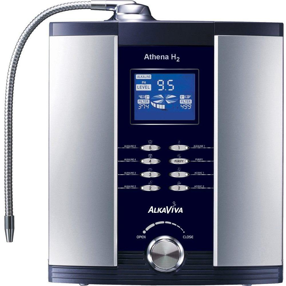 AlkaViva Athena H2 7-Plate Water Cell Ionizer & Dual Water Filter Purifier
