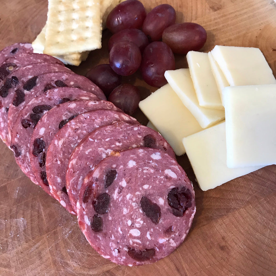 All Natural Cranberry Beef Summer Sausage