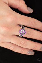 Load image into Gallery viewer, Rainbow Rivera - Purple Ring - SavvyChicksJewelry