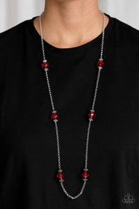 Season of Sparkle - Red Necklace - SavvyChicksJewelry