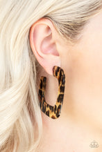 Load image into Gallery viewer, Cheetah Incognita - Brown Earrings - SavvyChicksJewelry