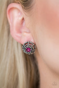 Courtly Courtliness - Pink Earrings - SavvyChicksJewelry
