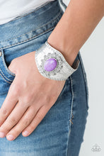 Load image into Gallery viewer, Mojave Majesty - Purple Paparazzi Bracelet - SavvyChicksJewelry