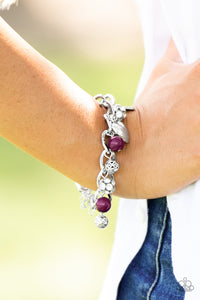 Royal Sweethearts - Purple Paparazzi Bracelet - SavvyChicksJewelry