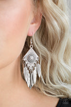 Load image into Gallery viewer, Western Rattler - Silver Paparazzi Earrings - SavvyChicksJewelry