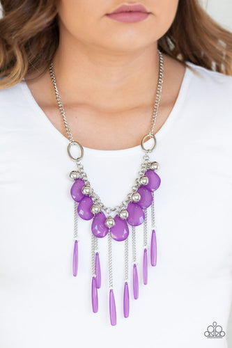 Roaring Riviera - Purple Necklace - SavvyChicksJewelry
