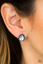 Load image into Gallery viewer, Glittering Romance - White Post Earrings - SavvyChicksJewelry