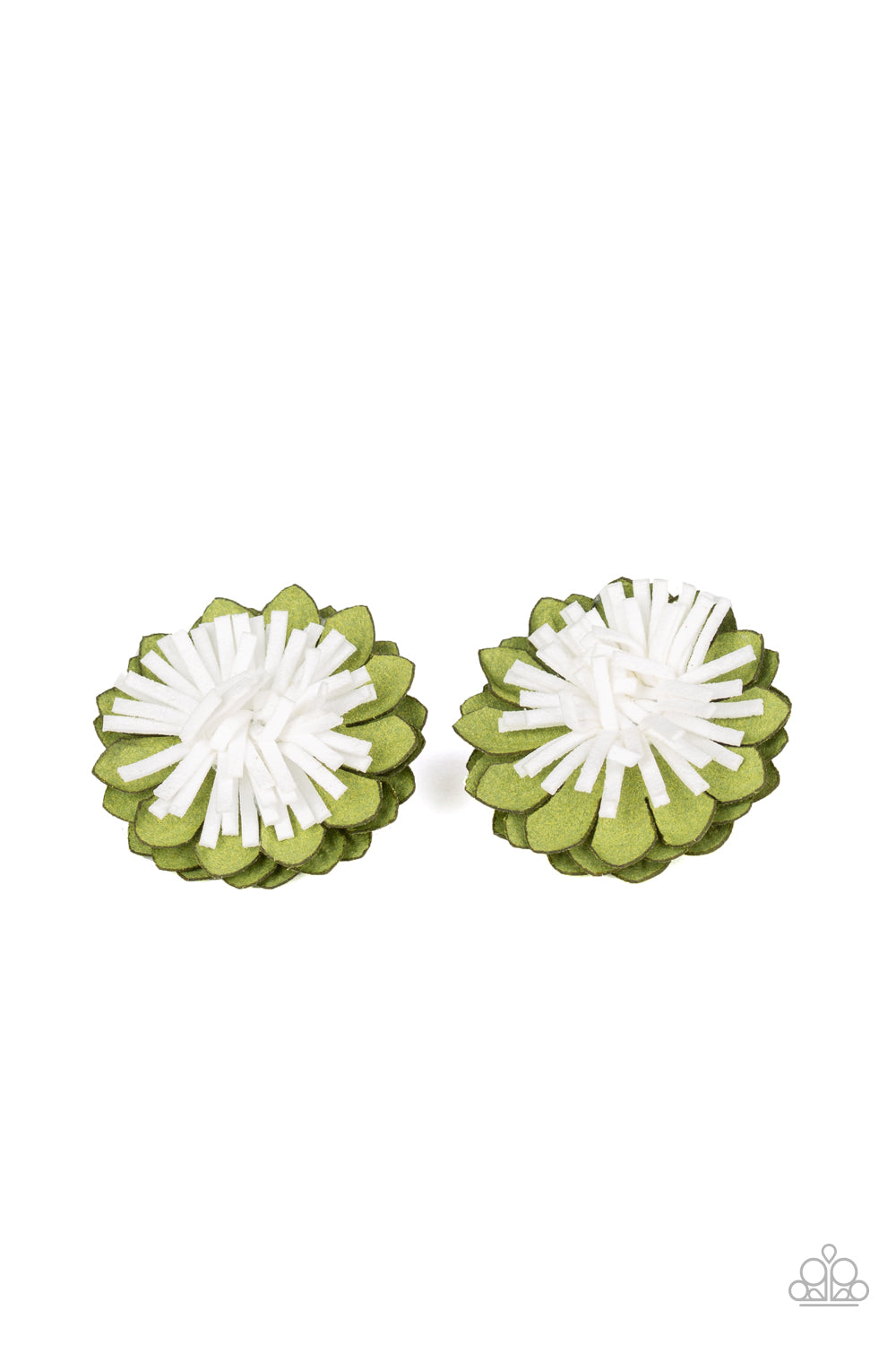 Blooming Bliss - Green Hair Clips - SavvyChicksJewelry