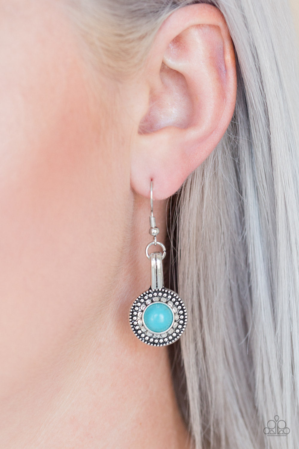 Simply Stagecoach - Blue Earrings - SavvyChicksJewelry