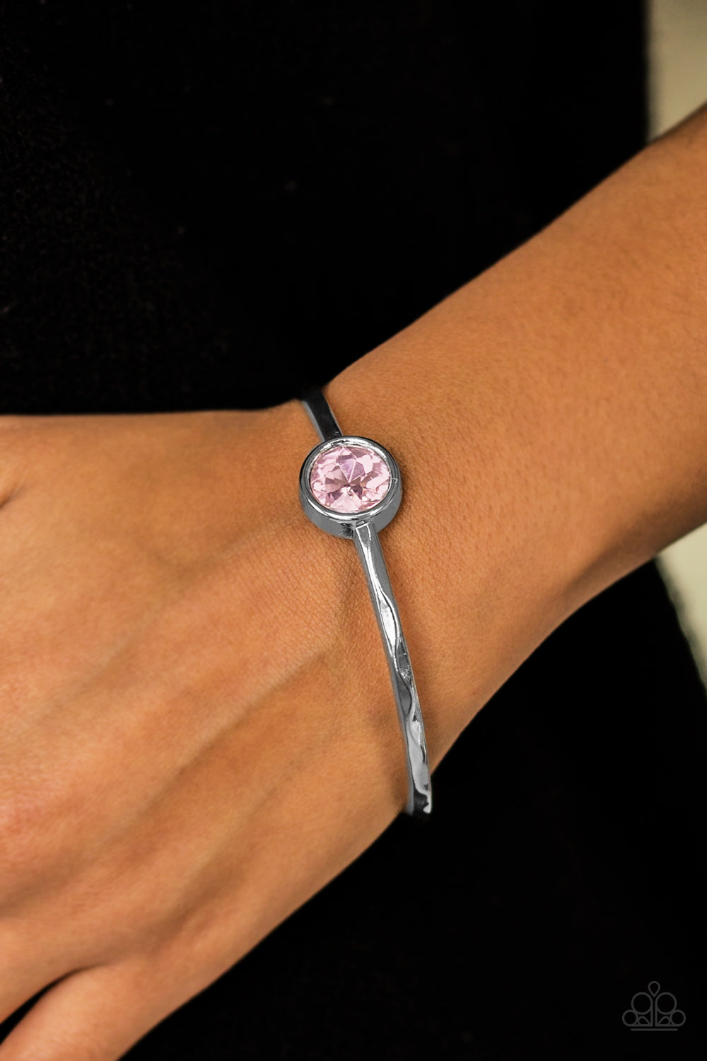 Diamonds for Breakfast - Pink Paparazzi Bracelet - SavvyChicksJewelry