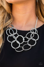 Load image into Gallery viewer, Radiant Ringmaster - Silver Paparazzi Necklace - SavvyChicksJewelry