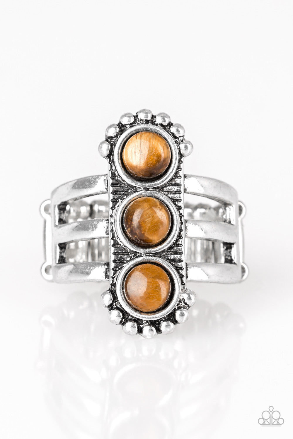 Rio Trio - Brown Ring - SavvyChicksJewelry