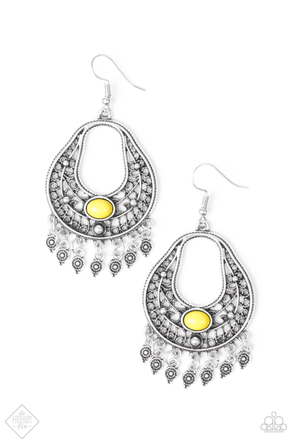 Shoreside Social - Yellow Paparazzi Earrings - SavvyChicksJewelry