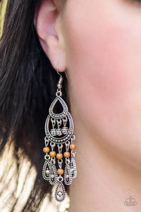Eastern Excursion - Brown Paparazzi Earrings - SavvyChicksJewelry