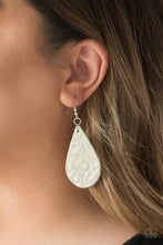 Load image into Gallery viewer, Feelin' Groovy - White Leather Earrings - SavvyChicksJewelry