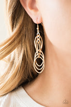 Load image into Gallery viewer, Tangle Tango - Gold Earrings - SavvyChicksJewelry