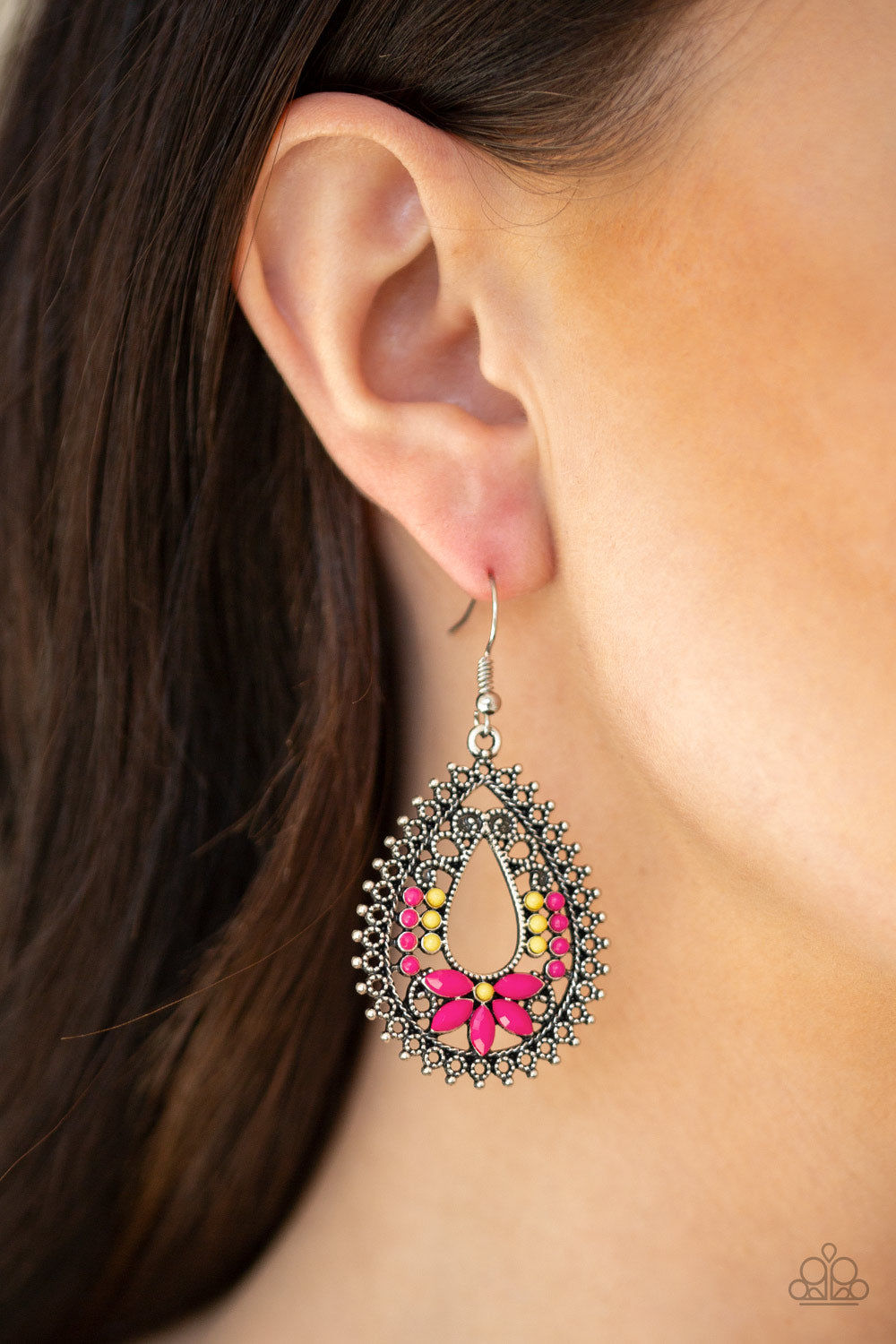 Atta-Gala - Pink Earrings - SavvyChicksJewelry