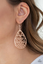 Load image into Gallery viewer, Lovely Lotus - Rose Gold Earrings - SavvyChicksJewelry