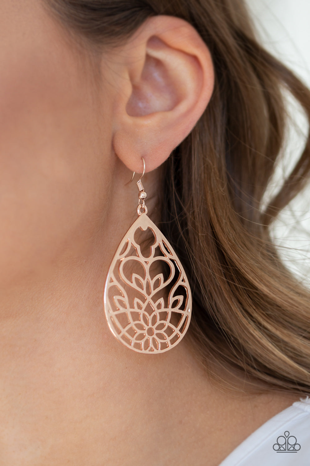 Lovely Lotus - Rose Gold Earrings - SavvyChicksJewelry