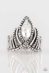 Here's Your Crown - White Ring - SavvyChicksJewelry
