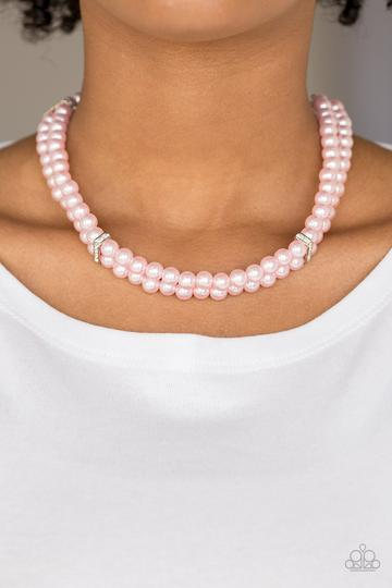 Put on Your Party Dress - Pink Necklace - SavvyChicksJewelry